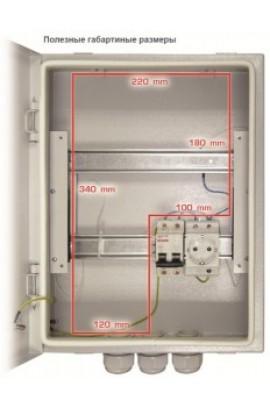 B-400x310x120 Электромонтажный шкаф
