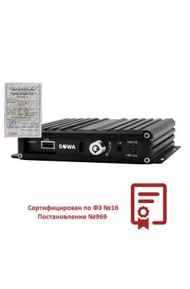 4-х канальный AHD видеорегистратор для транспорта SOWA MVR 204SD